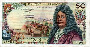 50 FRANCS RACINE TYPE 1962