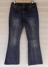 Silver Jeans Womens Suki Flare Size 29/L33 Wiskering Sandblasting