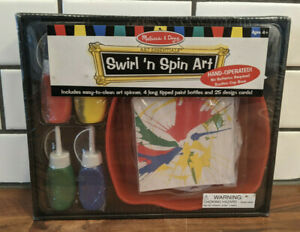 Melissa and Doug Art Essentials Swirl 'N Spin Art, NEW