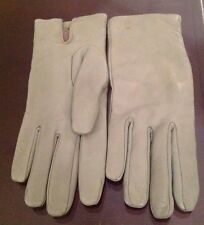 Cashmere Soft Leather Gloves Lundorf Ladies /Cashmere Lining Gloves Size 7 Green
