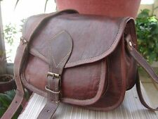 """Women's Leather Brown Leather Tote Sling Satchel Bag 7"""" X 9"""""""