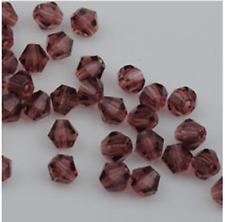 swarovski Jewelry crystal 5301 4mm bicone Beads 100pcs  purple red