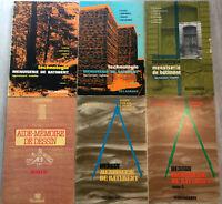 BOIS MENUISERIE DESSINS BATIMENT LIVRE BOOK CHARPENTE COUPE MEUBLE 6V RORET WOOD