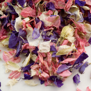 Natural Dried Petal Wedding Confetti Mixed Biodegradable Delphinium Petals  Eco