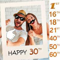 30/50ans Joyeux Anniversaire Fête Cadre De Papier Anniversaire Booth Photo Props