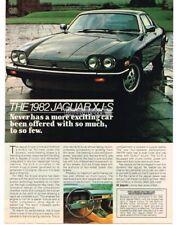 1982 Jaguar XJ-S Black Vtg Print Ad #2