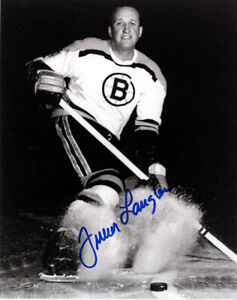 1 -  Autographed glossy  Photo  of Albert Langlois - Boston Bruins