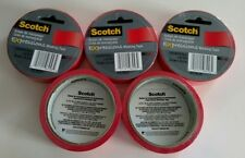 LOT OF 5 ROLLS ~ Scotch Expressions Masking Tape ~ 0.94 Inch x 20 Yards ~ Red