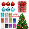 24Pcs Christmas Balls Xmas Tree Ornament Bauble Hanging Home Party Decor 30MM Bu