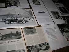 TONY BROOKS  Articles cuttings biog /  F1 & Sports cars 1950s / NURBURGRING etc