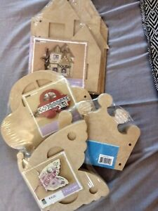 Kaisercraft - Kids Album - Basic Craft Wood Range house,car, crown, butterfly