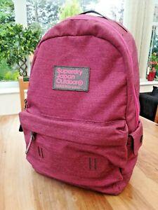 Superdry large pink back pack bag