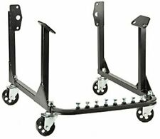 New Engine Cradle Stand Bbc Chevy & Sbc Chevy V8 with Cast Iron Wheels Black