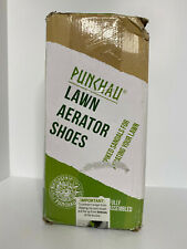 New listing Punchau Lawn Aerator Shoes with Secure Fit Heel Strap, Heavy Duty Pre-Assembled