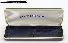 Vintage Diplomat Hard Cover Case / Etui / Box for 2 Pens in Blue-White