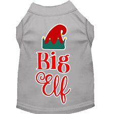 Big Elf Screen Print Dog Shirt Grey