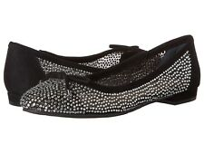 Nina Wynne Women's Glam Dress Flat Shoes in True Black, 7.5M