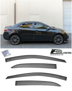 EOS Visors For 14-19 Toyota Corolla JDM MUGEN Style Side Vent Window Rain Guards