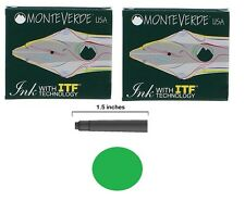 12 Monteverde International Standard Fountain Pen Ink Cartridges - Green