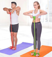 Pedal Pull Rope 4-Tube Foot Resistance Exercise Sit-up Fitness Yoga Equipment