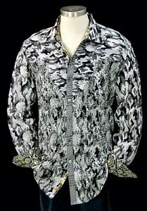 Robert Graham Lews Backstroke NWT $498 Limited Edition Sport Shirt XL