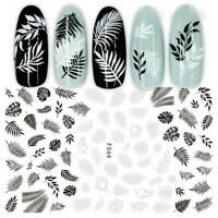 3D Nail Stickers Flower Tropical Plants Image Adhesive Nail Art Transfer Decals