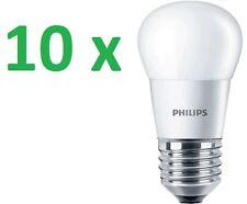 10 x Philips LED Lámpara de araña gotas 5 , 5w=40w Cálido 2700k cristal E27