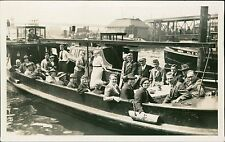 Hamburg, Germany. 1938. Ladies Gentleman boat trip harbour  (JC.262)