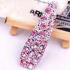 USA Quality Handmade Hair Clip Bobby Pin use Swarovski Crystal Hairpin Pink AB 0