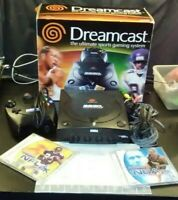 Sega Dreamcast Black Sports Gaming System Complete with 2 Games and Box