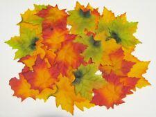50 Herbstblätter künstlich Streu Tisch DEKO Herbst Pflanze Laub Ahorn Blatt 9 cm