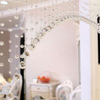 Crystal Beaded Garland Wedding Home Chandelier Hanging Curtain String DIY Decor