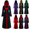 Women's Plus Size Halloween Hooded Lace Up Patchwork Long Sleeve Long Maxi Dress