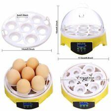 Egg Incubator Poultry Incubator Brooder Mini 7 Digital Temperature Hatchery Eggs