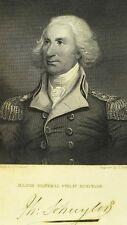 "1834 Original Gen. Philip Schuyler  War Copper Plate Engraving 6 1/2"" X 10 1/8"""
