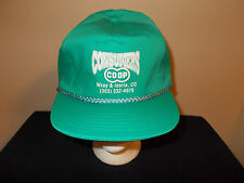 VTG-1980s Consumers CO-OP Wray & Idalia Colorado rope style slide lock hat sku21