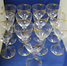 Daum Troubadour with Gold Decoration Set of 12 Water Goblets Excellent Condition