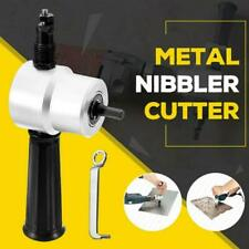 Electric Double Head Sheet Metal Cutting Nibbler Saw Cutter Drill Attachment HOT
