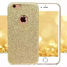 Coque Silicone Semi Rigide Brillant Strass Bling Bling Or Gold Doré Iphone 6 6S
