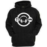 DJ HEADPHONES HOODIE, FUNNY NOVELTY MENS HOODIE,SM-2XL