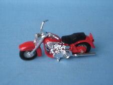 MATCHBOX Harley Davidson motorcylce BIKE ROSSO 70 mm di lunghezza