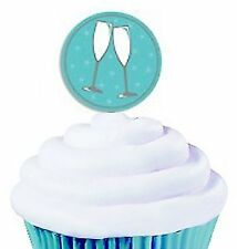 Wilton 24 Pieces Cupcake Picks Toasting Glasses Party Cake Toppers Decoration