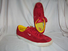 Size 13 M Red Suede Nike Sneakers Tennis Shoes Nice Used Shape Cool Style