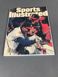 Atlanta Braves Heat Sealed Sports Illustrated Cover Mounted Wall Plaque 1995