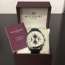 Mens Accurist model no MS785B Stainless Steel Chronograph  watch RRP £179.00,