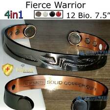 FIERCE WARRIOR SOLID PURE COPPER MAGNETIC BRACELET MEN ARTHRITIS THERAPY CB60BY