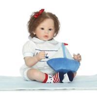 "20"" Realistic Handmade Lifelike Gift Reborn Girl Baby Reborn Doll Silicone Vinyl"