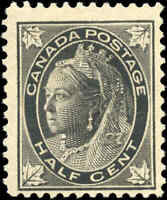 1897 Mint NG Canada F+ Scott #66 1/2c Maple Leaf Issue Stamp