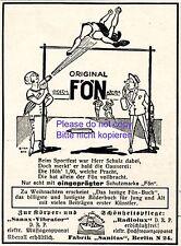 Haartrockner Fön Reklame 1924 Hochsprung Leichtathletik Biega Werbung