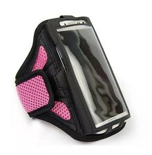 Insten Pink Mess Ports Sport Armband Vertical Pouch Case For iPhone 5 4 5S 5E 5C